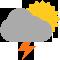 Durante la prima parte della giornata Coperto tendente nella seconda parte della giornata Coperto con piogge moderate