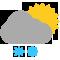 Durante la prima parte della giornata Coperto con scrosci temporaleschi e grandine tendente nella seconda parte della giornata Sereno