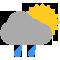 Durante la prima parte della giornata Nubi sparse con qualche pioggia tendente nella seconda parte della giornata Sereno