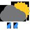 Tutto il giorno Nubi sparse con qualche pioggia