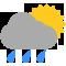 Durante la prima parte della giornata Nubi sparse con qualche pioggia tendente nella seconda parte della giornata Coperto con qualche pioggia